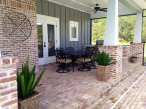 8 PALLETS ORIGINAL RECLAIMED OLD BRICKS CLAY PAVERS CAME FROM 1800's COTTON MILL