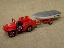 Solido véhicule pompier Hachette n° 53 Dodge 4x4 remorque bateau 1/43 +fascicule