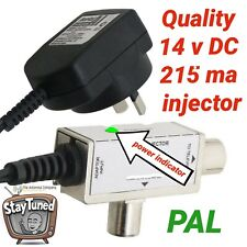 tv antenna booster power supply 14v aerial industries 215ma PAL metal  ps14dcp