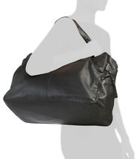 NWT COSTANZA ROTA MADE IN ITALY WOVEN LEATHER TRAVEL DUFFEL WEEKENDER BLACK