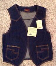 vintage 70-80's Authentic landlubber denim Jean Vest NWT!