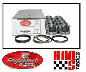 Flat Top Pistons Set w/ Moly Rings for 2010-2014 Chevrolet GMC Gen IV 5.3L