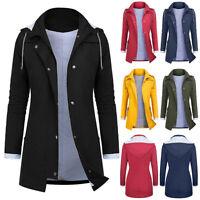 Women Rain Jacket Outdoor Plus Size Waterproof Hooded Raincoat Windproof Coat