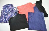 Lot of 5 Mixed Brands Women's Plus Size 3X Blouse Tank Top T-Shirt Cardigan