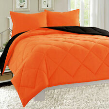 Empire Reversible 3pc Comforter Set Microfiber Quilted Bed Cover Soft Bedding