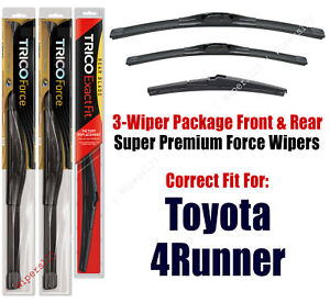 Wiper Blades Trico 3-Pack Front/Rear fits 2010+ Toyota 4Runner - 25240/200/12L