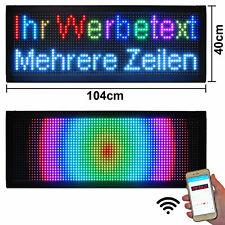 Groß LED-Laufschrift Farbig Werbung Reklame Lauftexte Display xxl  104x40  WiFi