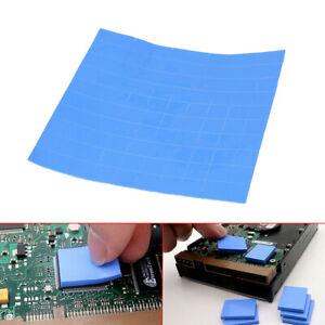100pcs 10x10x2mm GPU CPU Thermal Conductive Pad Heatsink Cooling Chip Silicone