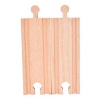 Accessoires de train droit en bois pour train compatibles avec toutes les graLBB