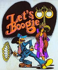 Original Vintage Let's Boogie Iron On Transfer Dayglo