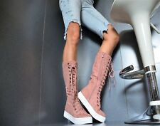 Sexy Ankle Boots Women's Shoes Trendy Party Court Sneakers Casual Pink 36