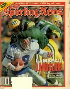 Sporting News magazine, Football, 12/1/97, Troy Aikman, Dallas Cowboys ~ VG