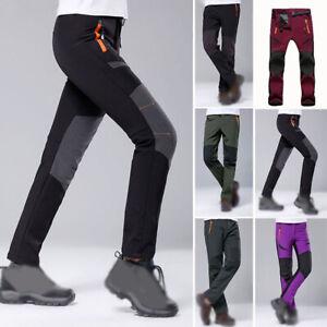 Unisex Snow Ski Pants Hiking Waterproof Windproof Warm Padded Polyester Durable