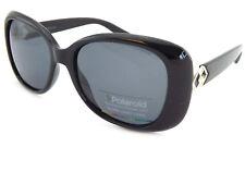 2052edc988 POLAROID women s Black Ruth Sunglasses Polarized Dark Grey Lenses P4051 807