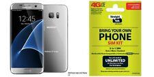 "New Straight Talk/Verizon Samsung Galaxy S7 Edge ""Silver"""