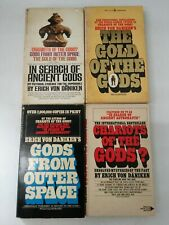 Lot of 4 Erich Von Daniken~Chariots of the Gods~ufo~Gold of the Gods~Outer Spa..