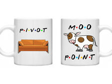 Friends Double Mug Set Pivot Moo Point TV Series Novelty Gifts Shows Box Set Mug