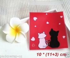 30 x Love Cats Gift Bags self-adhesive lolly lollies favor treat party cello