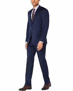 Michael Kors Mens Classic Fit Pinstripe Suit 48R Navy Pants 42 Waist