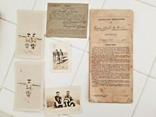 Original WW 1 1918 20 Page Morning Report Photographs Pass Evac Ambulance