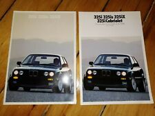 Canada 1989 BMW 3 325i 325is 325ix Brochure + Colour & Upholstery Catalog E30
