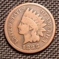 1888 Indian Head Cent/Penny - Very Good VG