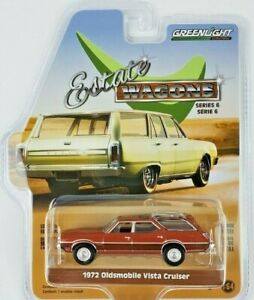 1:64 GreenLight 1972 Oldsmobile Vista Cruiser Car Estate Wagons Series 6