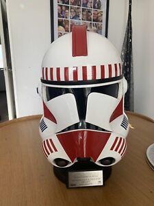 Master Replicas Shock Trooper Helmet Star Wars 1:1 Rare!!