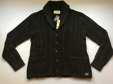 NEW Ralph Lauren Denim&Supply Washed Black Cabled Shawl Cardigan-MENS- XL