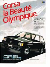PUBLICITE ADVERTISING  1984  OPEL CORSA  beauté olympique