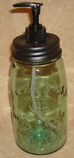 Primitive Classic MASON Fruit Canning Jar QUART SOAP LOTION Dispenser Black Lid