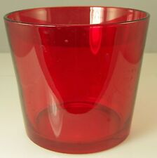 """Red Glass Ikea Bowl Christmas or Valentine's Day Decor 4.75"""" tall x 5.5"""""""