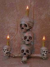 Tower Skull Display, Halloween Prop, Human Skull Skulls