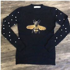 Fashion Long sleeve Shirt🌺Design Of A Bee (Large)3D(black)women