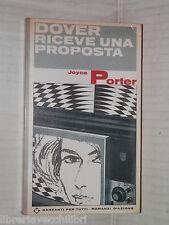 RICEVE UNA PROPOSTA Joyce Porter Garzanti per tutti 178 1969 romanzo libro di