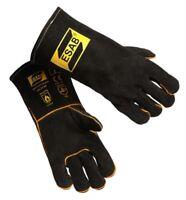 ESAB Heavy Duty Black MIG Welding Gloves, Welders Gauntlets, Size: 9 / L
