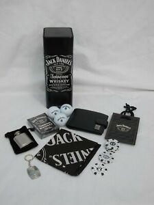 JOB LOT JACK DANIEL'S LEATHER BLACK WALLET, POKER CARDS, GOLF BALLS BANDANA ETC