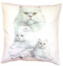 Persian Cat Feline Themed Cotton Cushion Cover - Perfect Gift
