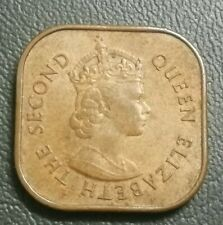 (RM) Malaya British Borneo Queen Elizabeth coin 1 cents 1956 VF-GVF lot 3