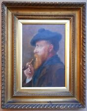Portrait of Harry Hine RI. Oil by listed artist Mrs Victoria S Hine RE, c1900