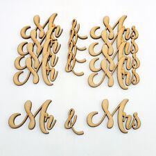 Mr & Mrs Word Cutout 5 pack MDF Laser Cut Wooden Craft Blank  wedding guestbook