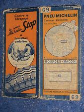 Cartes MICHELIN n° 69 Bourges Mâcon 1934