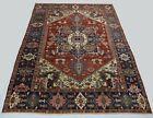 Wonderful Old Antique Heriz Serapi Carpet  14,9x10,5 Ft