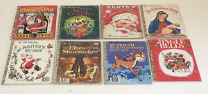 8 X Little Golden Books Christmas Theme As Pictured