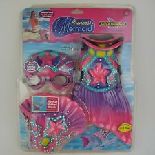Super Swimmer Swim Set Gear Deluxe Mermaid Princess Finds Goggles Webbed Gloves