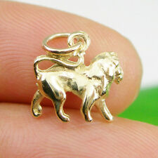 Genuine 375 9k Yellow Gold Lion Leo Zodiac Animal Sign 3D Charm Pendant - ZA08