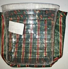 Longaberger Combo Glad Tidings Tiered Protector Imperial Stripes Liner 43382