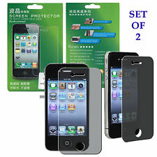 2 Privacy LCD Screen Protector Cover Guard for Apple iPhone 4 4G 4S NEW! US SHIP