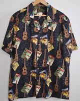 Hawaiian Reserve Collection Hawaiian Shirt Large Men's Aloha Camp 100% cotton