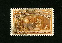 US Stamps # 239 F jumbo used fresh Scott Value $100.00